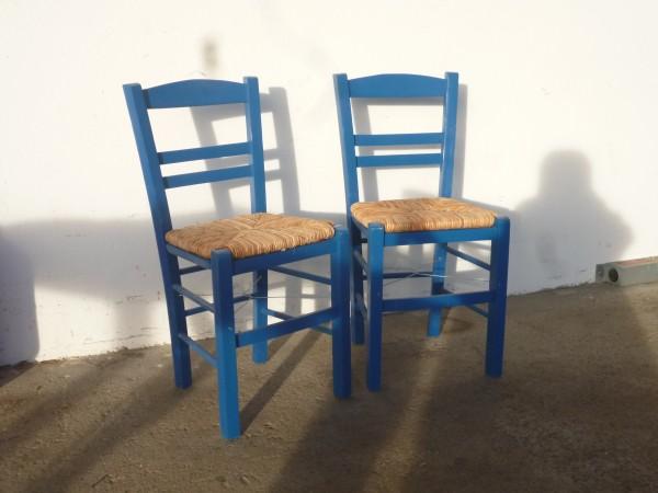 Kafeneion Stühle Blau 2 Stück Kafeneion Stühle Elis